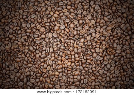 coffee beans and coffee beans vignette background