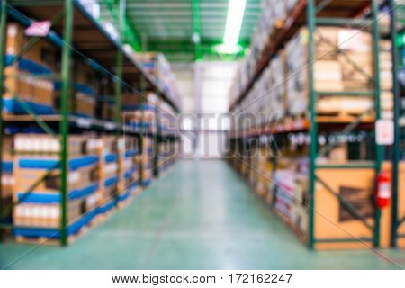 blurred background of warehouse, stock, storage