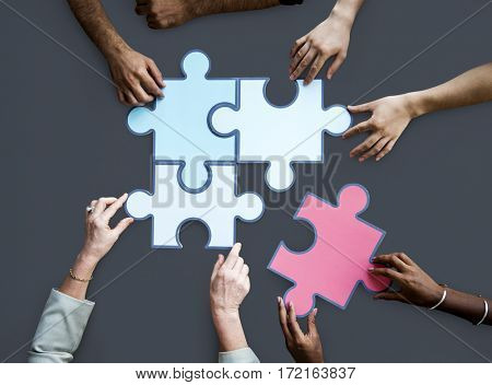 Togetherness Connection Teamwork Jigsaw Game