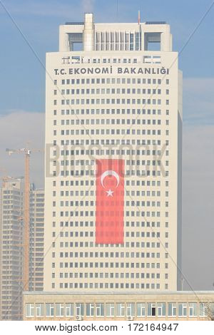 ANKARA, TURKEY -  12 DECEMBER 2016: The Ministry of Economy Building in Ankara, Turkey