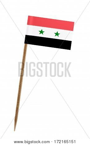 Tooth pick wit a small paper flag of Syria