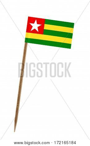 Tooth pick wit a small paper flag of Togo