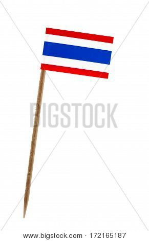 Tooth pick wit a small paper flag of Thailand