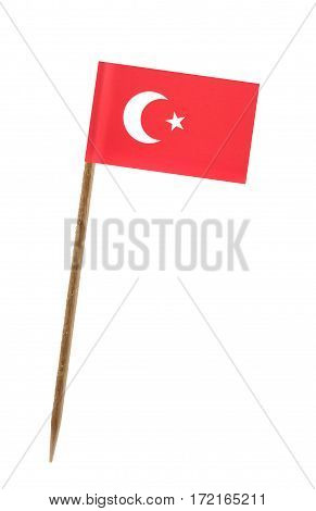 Tooth pick wit a small paper flag of Turkey