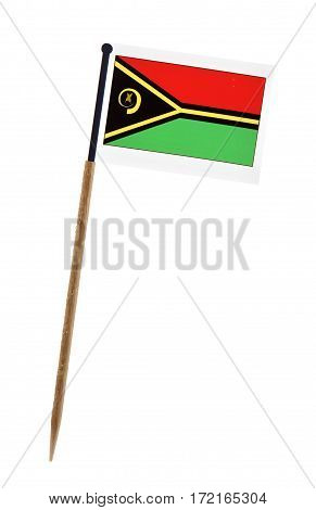 Tooth pick wit a small paper flag of Vanuatu