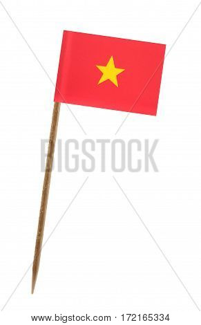Tooth pick wit a small paper flag of Vietnam