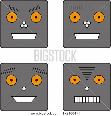 set of four robots for your design