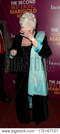 NEW YORK-MAR 3: Actress Dame Judi Dench attends the premiere of