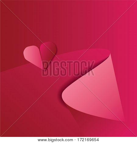 Vector Red Satin Silky Cloth Fabric Textile Drape with Crease Wavy Folds. Abstract Background