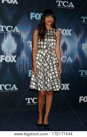 LOS ANGELES - JAN 11:  Hannah Simone at the FOXTV TCA Winter 2017 All-Star Party at Langham Hotel on January 11, 2017 in Pasadena, CA