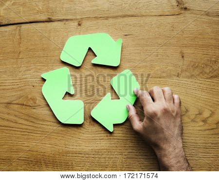 Recycling Reuse Sustainability Symbol Concept