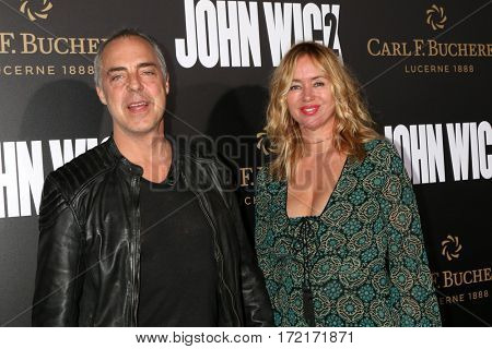 LOS ANGELES - JAN 30:  Titus Welliver, Jose Stemkens at the
