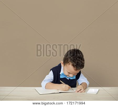 Little Children Posing Working Adult