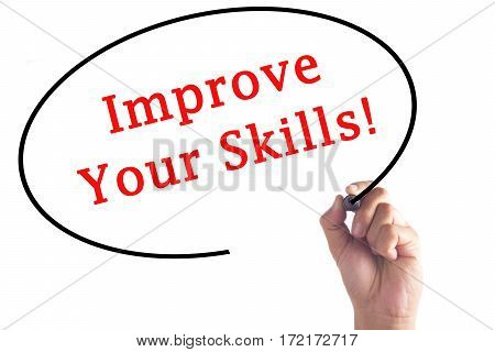 Hand Writing Improve Your Skills On Transparent Board