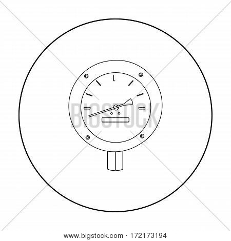 Oil manometer icon in outline style isolated on white background. Oil industry symbol vector illustration.