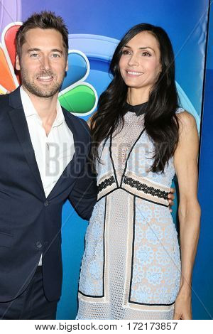 LOS ANGELES - JAN 18:  Ryan Eggold, Famke Janssen at the NBC/Universal TCA Winter 2017 at Langham Hotel on January 18, 2017 in Pasadena, CA