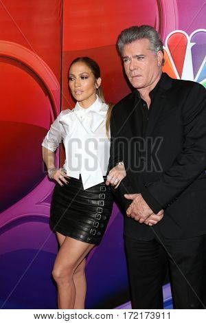 LOS ANGELES - JAN 18:  Ray Liotta, Jennifer Lopez at the NBC/Universal TCA Winter 2017 at Langham Hotel on January 18, 2017 in Pasadena, CA