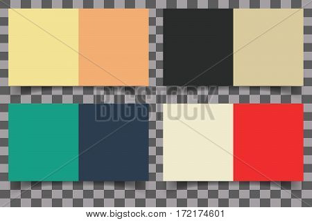 Colored squares with shadow on transparent background. Design element for cover brochure or flyer. Vector illustration.