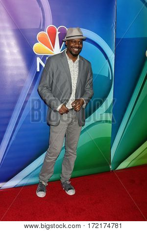 LOS ANGELES - JAN 18:  Malcolm Barrett at the NBC/Universal TCA Winter 2017 at Langham Hotel on January 18, 2017 in Pasadena, CA