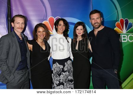 LOS ANGELES - JAN 18: James Landry Hebert, Monique Gabriela Curnen, Jennifer Beals, Jennifer Marsala, Clive Standen at the NBC/Universal TCA 2017 at Langham Hotel on January 18, 2017 in Pasadena, CA
