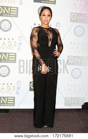 LOS ANGELES - FEB 10:  Tamera Mowry-Housley at the Non-Televisied 48th NAACP Image Awards at Pasadena Conference Center on February 10, 2017 in Pasadena, CA