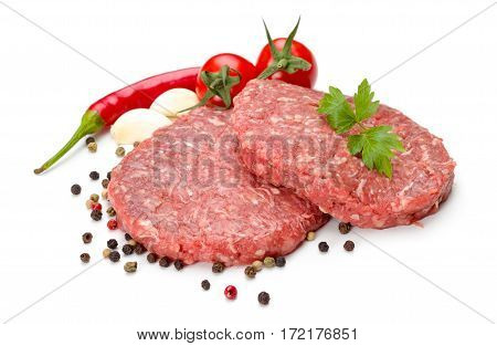 Raw Hamburger Meat