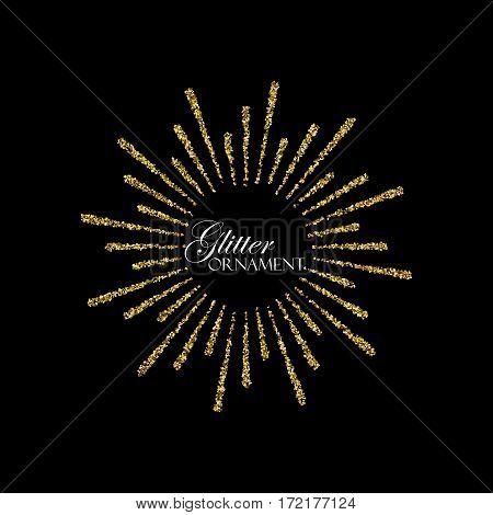 Festive Fireworks. Glowing explode of sparkling particles. Sparkling glitters burst. Decoration holiday element for design. Festive ornament