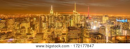 New York - DECEMBER 20, 2013: View of Lower Manhattan