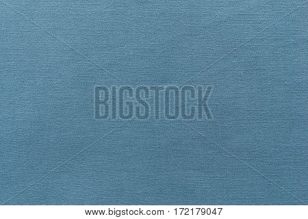 texture and background of rough fabric or cotton material of blue color