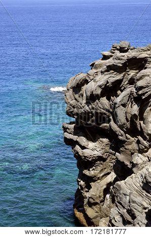 Callao Salvaje coast volcanic rock formation in Adeje Tenerife