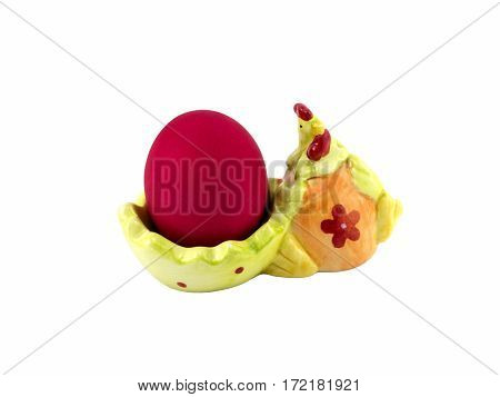 Easter Egg In Red On A Stand