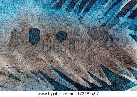 Abstraction, Hot Batik, Background Texture, Handmade On Silk, Abstract Surrealism Art