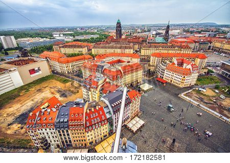 View of Dresden from the observation tower