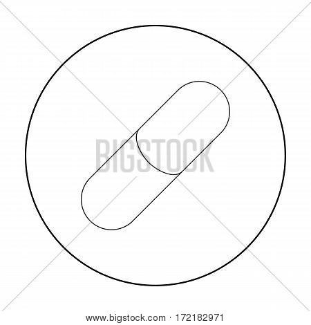Pill icon outline. Single medicine icon from the big medical, healthcare outline stock vector