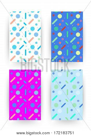 Covers With Flat Geometric Pattern.