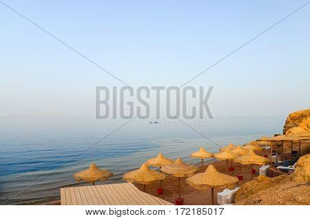 Beach On The Sinai Peninsula. Egypt, Sharm El Sheikh.