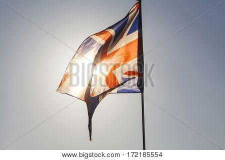 Close up on UK flag
