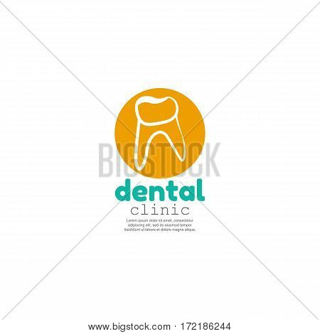 Health Dent Logo design vector template linear style.Dental clinic Logotype concept icon.