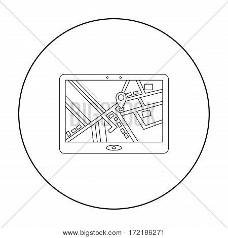 GPS icon of vector illustration for web and mobile design