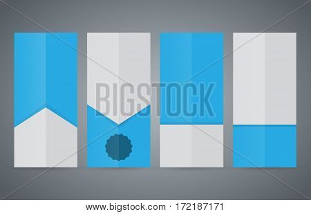 Set Vertical Banners Blue Background05