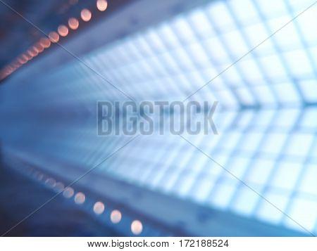 Diagonal space shuttle shaft track bokeh background hd