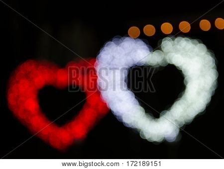 Beautiful luxury Heart multi color abstract particles background and copyspace.