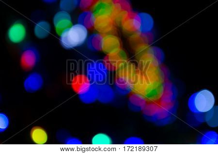 Beautiful luxury multi color abstract particles background and copyspace.