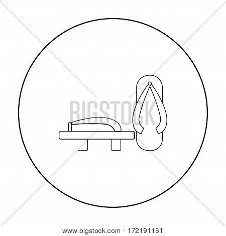 Geta icon in outline style isolated on white background. Japan symbol vector illustration.