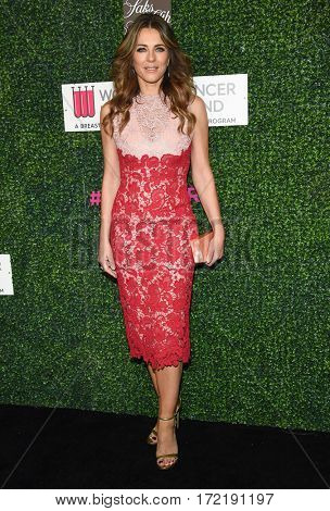 LOS ANGELES - FEB 16:  Elizabeth Hurley arrives for the An Unforgettable Evening on February 16, 2017 in Beverly Hills, CA