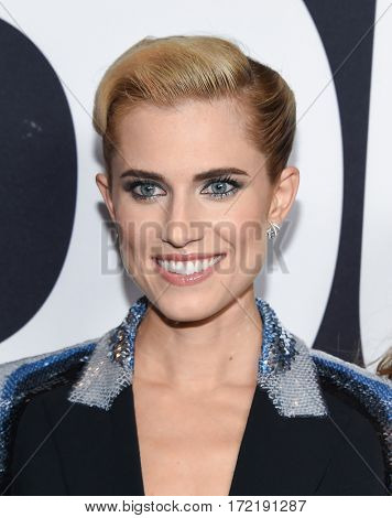 LOS ANGELES - FEB 10:  Allison Williams arrives for the