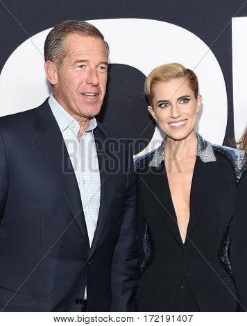 LOS ANGELES - FEB 10:  Brian Williams and Allison Williams arrives for the