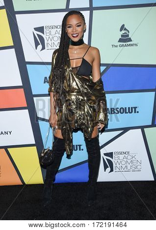 LOS ANGELES - FEB 09:  Serayah McNeill arrives for the ESSENCE 8th Annual Black Women In Music on February 9, 2017 in Hollywood, CA