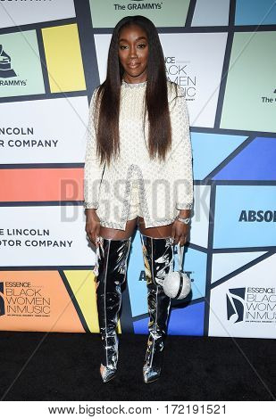 LOS ANGELES - FEB 09:  Estelle arrives for the ESSENCE 8th Annual Black Women In Music on February 9, 2017 in Hollywood, CA
