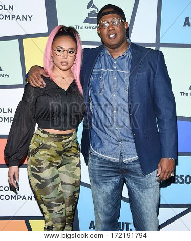 LOS ANGELES - FEB 09:  Cymphonique Miller & Master P arrives for the ESSENCE 8th Annual Black Women In Music on February 9, 2017 in Hollywood, CA